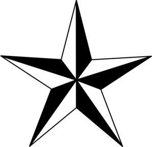 star clipart black & white | Black Nautical Star clip art - vector clip art online, royalty free ...