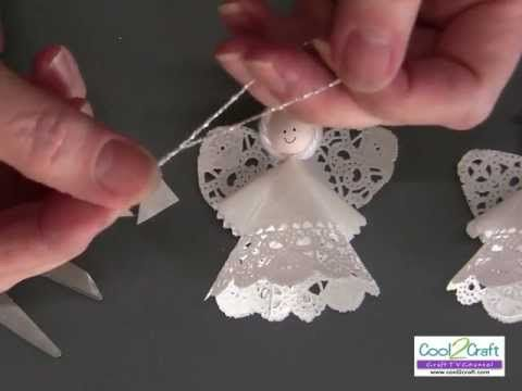 Mesh Wreath Instructions | How to Make a Paper Doily Angel Using Aleene's Original Tacky Glue ...
