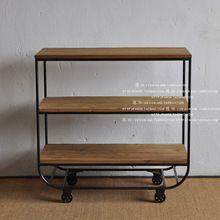 Чердак современной минималистский стиль горнорудной мебель / три - колесо тумбочки столовая / хранения стойке книжный шкаф(China (Mainland))