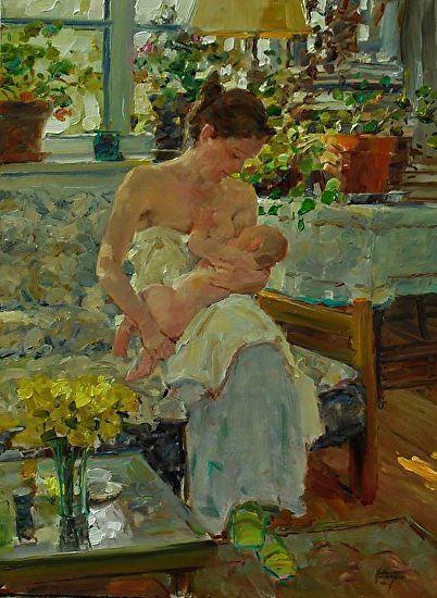 Pure Joy by David Hettinger Oil ~ 16 x 12