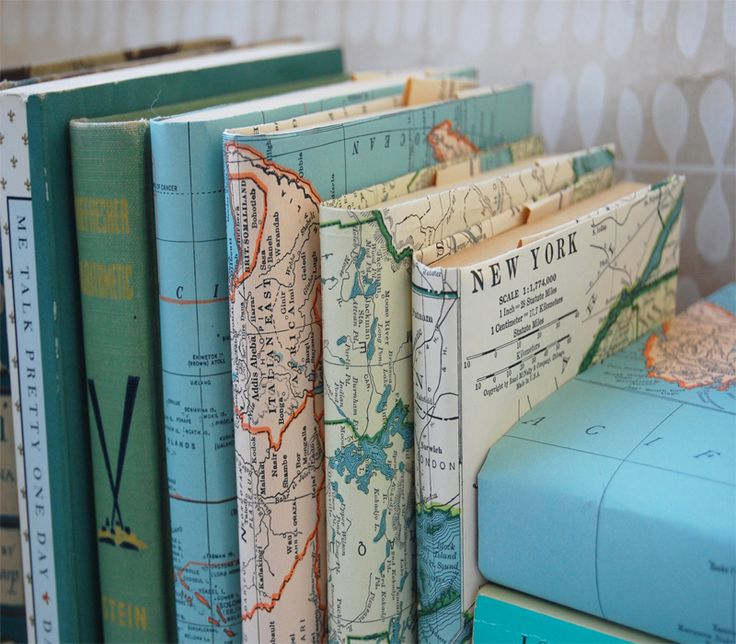Map printed book covers