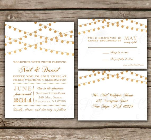 Starry Night Wedding Invitations with luxury invitations design