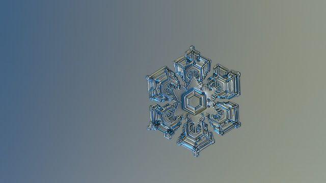Snowflake HD wallpaper: Silver Foil