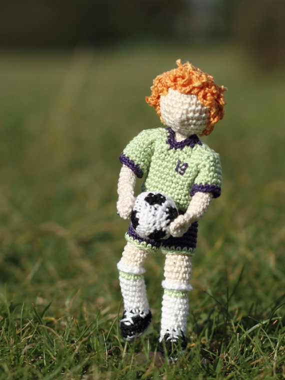 Crocheted art doll OOAK Handmade collectable doll by FancyKnittles,