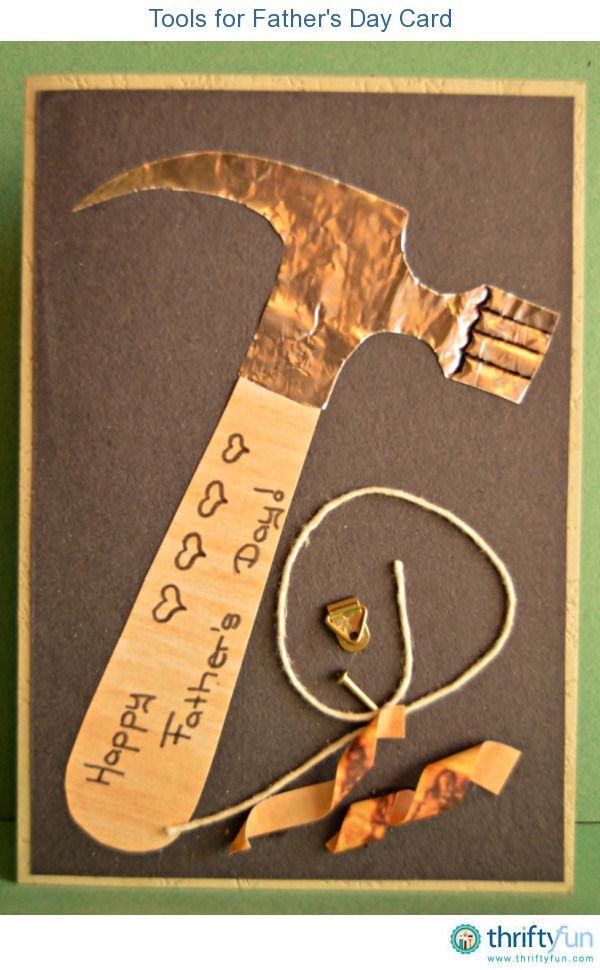 This Father's Day DIY card is ideal for a dad that loves doing woodwork and all kinds of handyman activities in and around the house.
