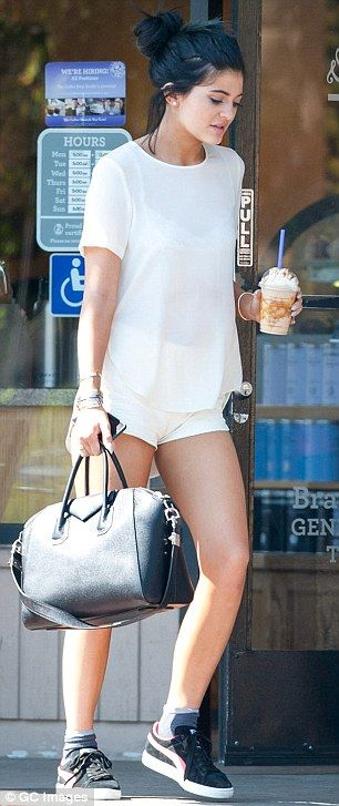 Kylie Jenner legs it to the coffee shop after being seen driving Khloe Kardashian's $49K Jeep that French Montana gave her | Daily Mail Online
