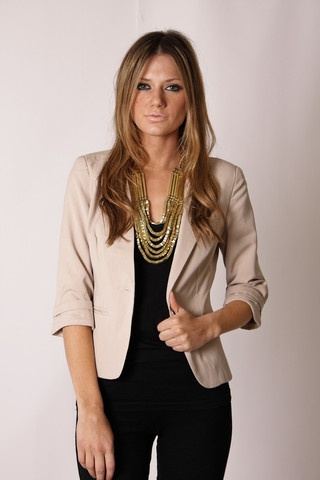 Rachell- this is a cute crop blazer! Doesn't have to be this color. charlie crop blazer- sand www.esther.com