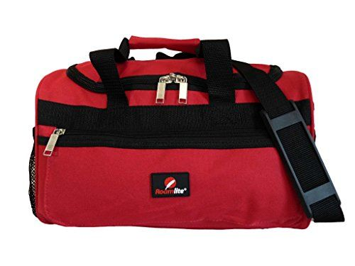 Small Holdalls - Ryanair 2nd Item Of Hand Luggage Size Bags - Exact Size Holdall Made 35 X 20 X 20 Cm - Black Cabin Bag - Super Lightweight 0.4kg - Perfect Second Carry On Baggage For Ryan Air Rl59r (red)
