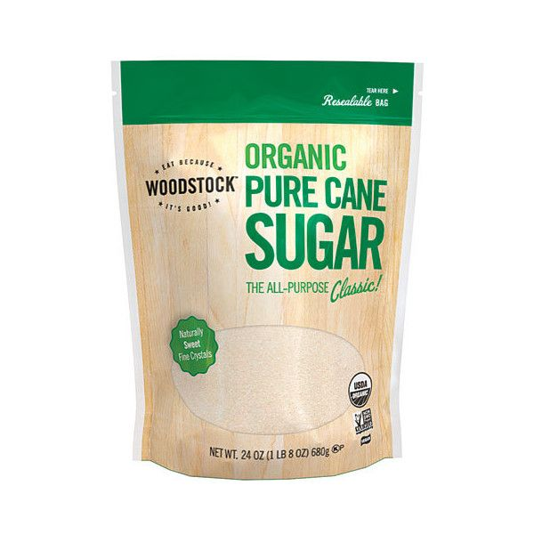Woodstock Farms Organic Pure Cane Sugar 24 oz (17 BRL) ❤ liked on Polyvore featuring food