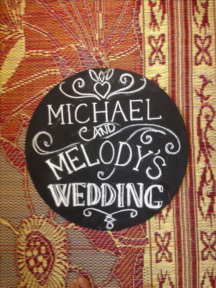 Custom wedding signage - Bride and groom names