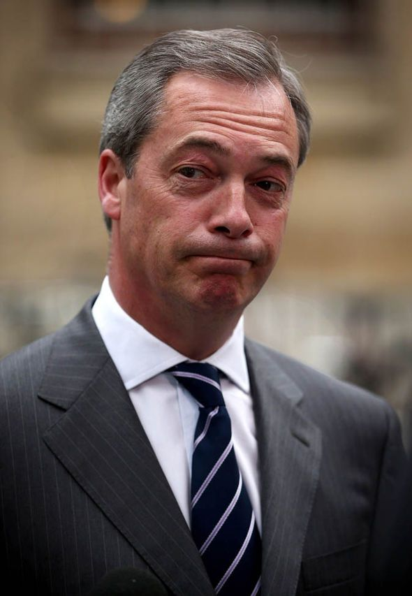 Nigel Farage looking worried