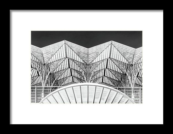 Abstract Architectural Detail Of Gare Do Oriente In Lisbon Framed Print