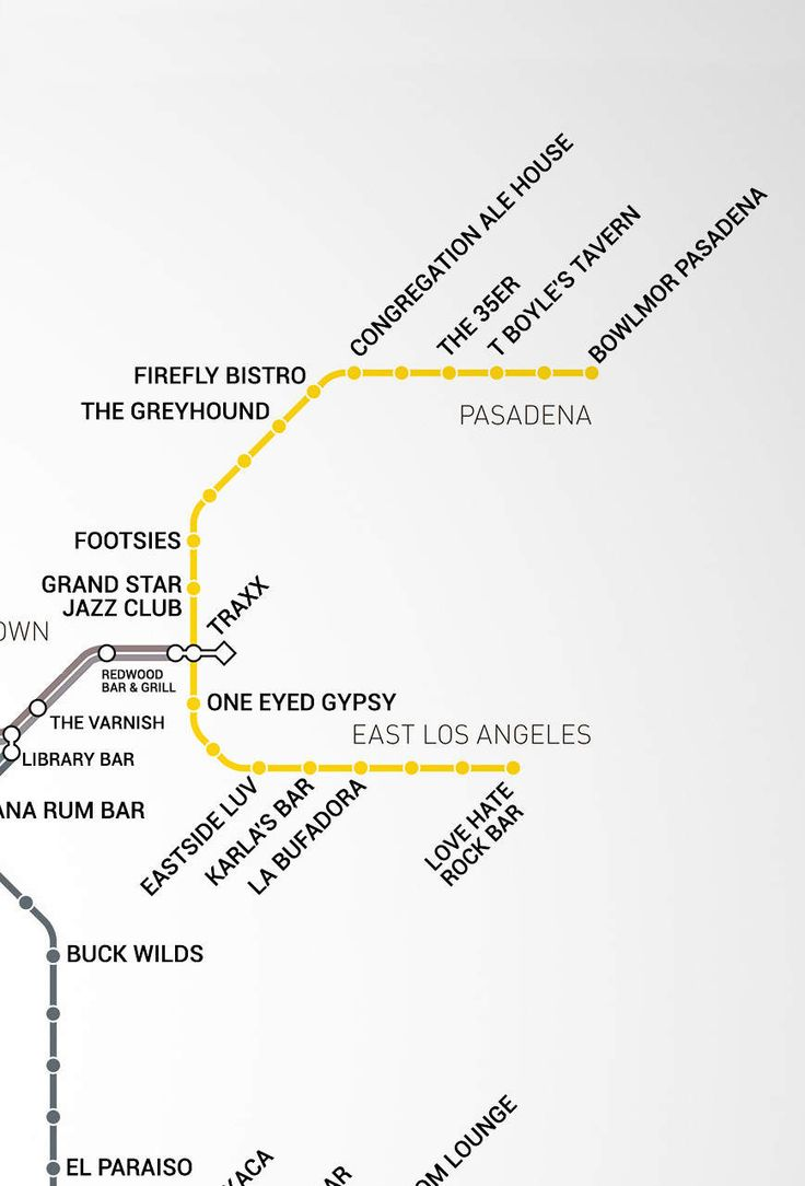 LA's first-ever Metro Rail Bar Map