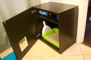 El 'baño' del gato es un sector que puede afear el interior del hogar. Aquí te ofrecemos una solución para no tener que expulsar al gato; haremos un mueble para colocar la caja de arena de nuestra mascota.