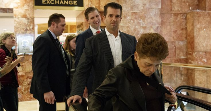 While running Trump's business, Trump's sons talk political strategy with GOP leaders  Meeting in Washington raises ethical questions about conflicts of interest for sons handling father's business dealings.