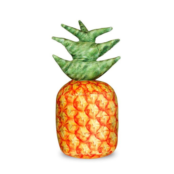 Pineapple Pillow  Did you know that Pineapples used to be a display of wealth? They were used again and again at parties on display at the dinner table, until eventually rotting. You could do the same with this one, and it won't ever rot!