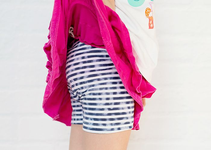 DIY Shorties plus Learn how to Serge the Perfect Stretchy Hem (w/the blind hem foot) - Scattered Thoughts of a Crafty Mom