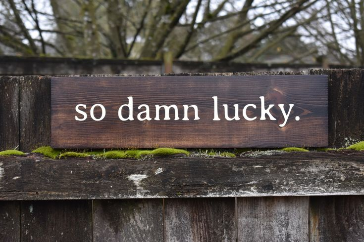 So Damn Lucky Wood Sign - Dave Matthews Band - Song Lyrics - DMB- Fan Signs - Anniversary Gift by ThatOregonGirl on Etsy https://www.etsy.com/listing/502616379/so-damn-lucky-wood-sign-dave-matthews