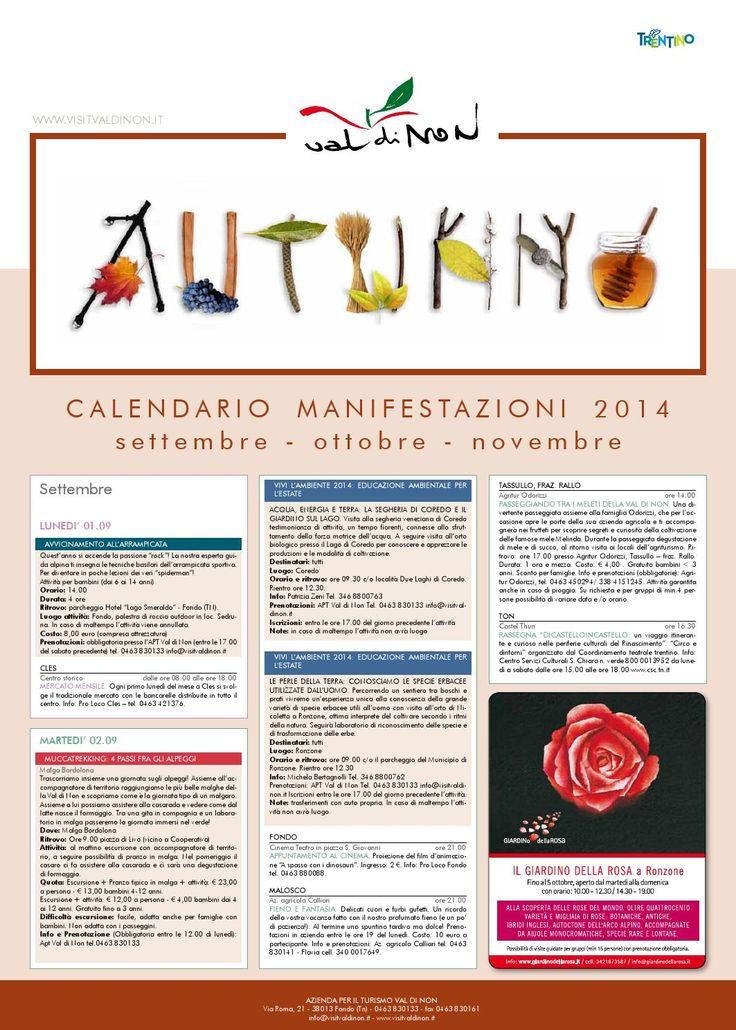 Tabloid manifestazioni autunno 2014  Sfoglia il Tabloid Autunno 2014 con tutte le manifestazioni e gli eventi della stagione!