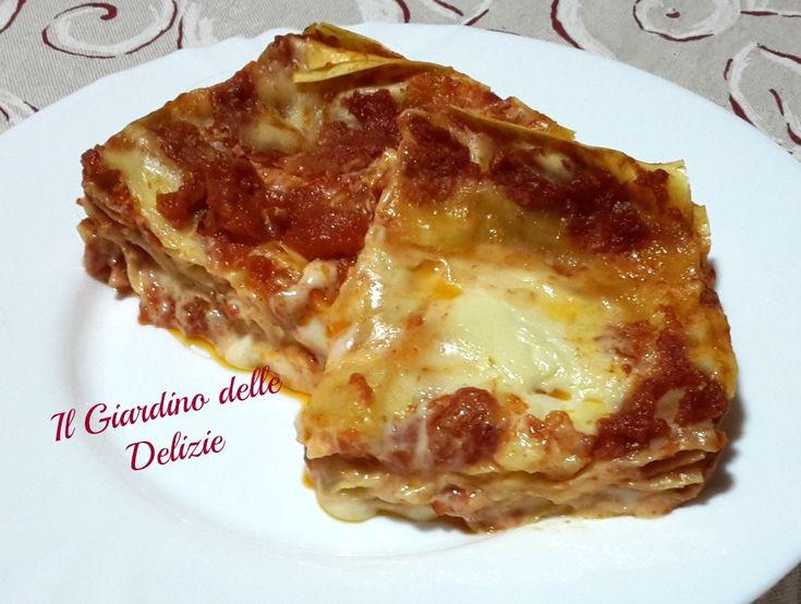 Lasagne gruviera e pomodoroun primo piatto leggero delicato ma di grande effetto nella sua semplicità e leggerezza e sono preparate al microonde
