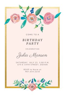 Best Birthday Invitation Templates Images On Pinterest Order - Birthday party invitation maker downloads