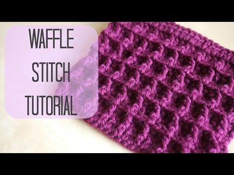 ▶ CROCHET: How to crochet the Waffle stitch | Bella Coco - YouTube