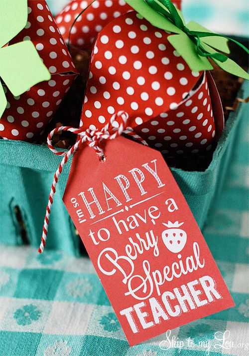 Berry Special Teacher Gift with free printable