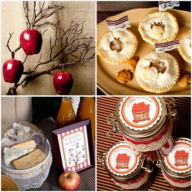 Apples & Lace Flags, Apple Bread & Apple Butter would be great in jars