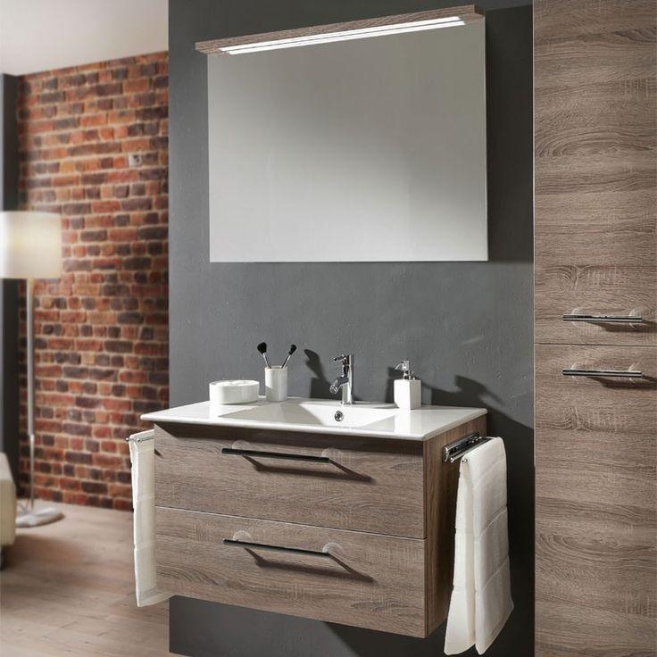 Marlin Christall Badmöbel Set   80 Cm Mit Spiegelpaneel Und  Keramik Waschtisch