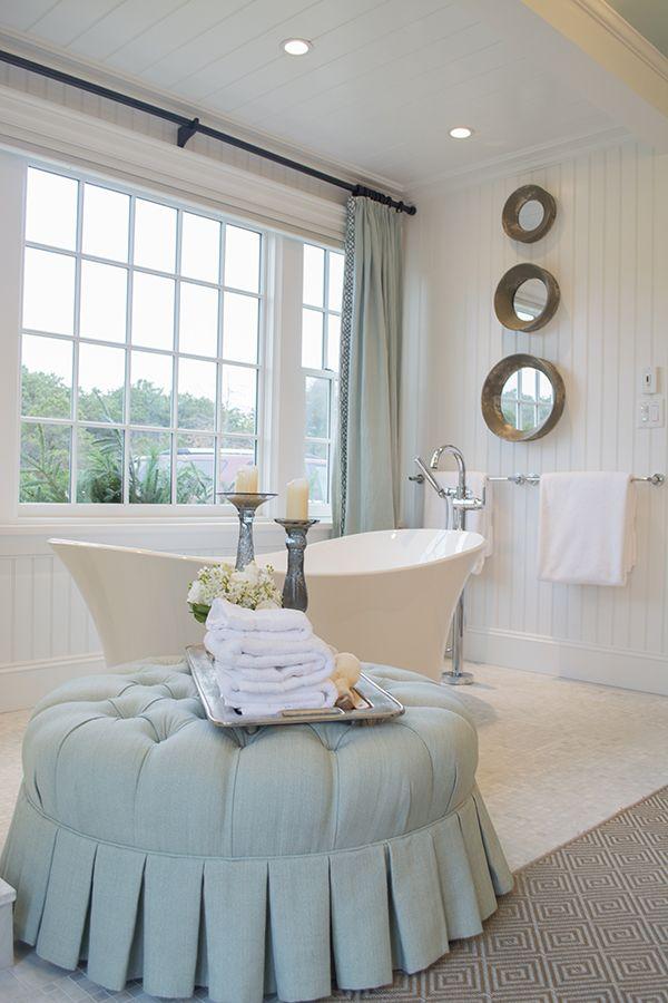 bathroom with freestanding tub in the HGTV Dream Home 2015 on Martha's Vineyard - Cuckoo4Design