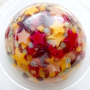 a Japanese jelly dessert                                                                                                                                                                                 More