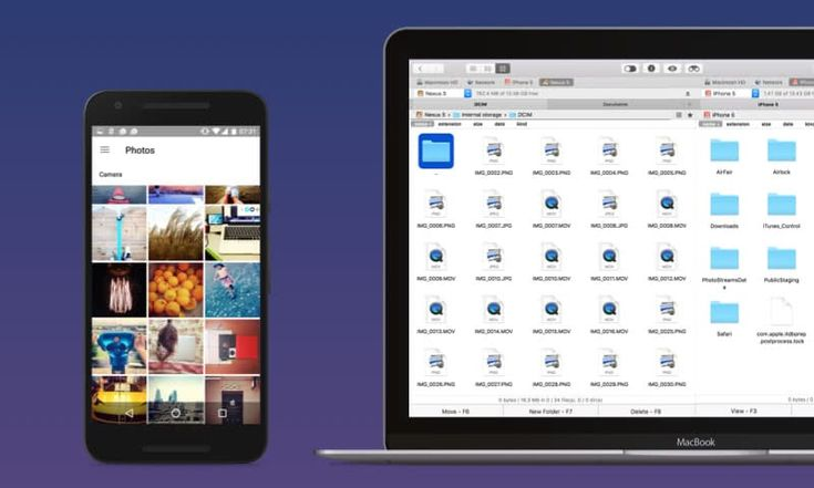How do I transfer photos from Android to Mac?