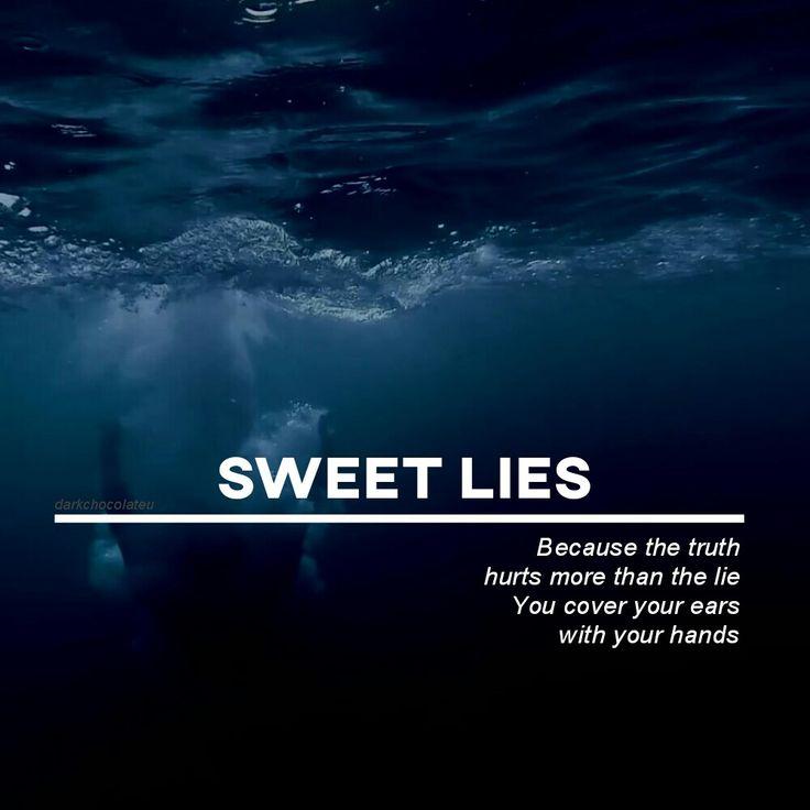 EXO sweet lies Lyrics quote wallpaper