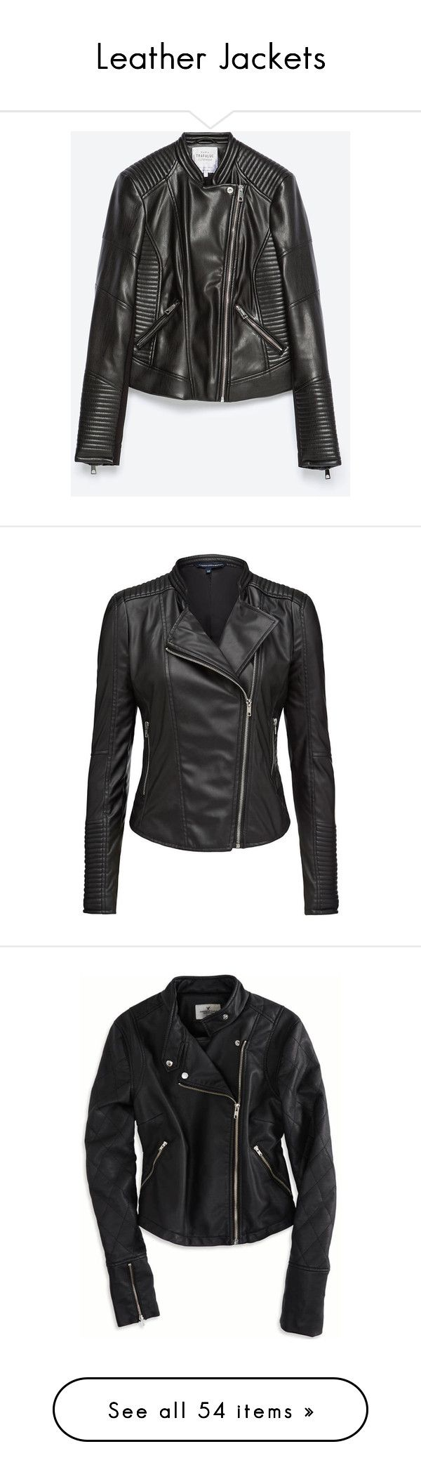 """""""Leather Jackets"""" by lizzie-spence ❤ liked on Polyvore featuring outerwear, jackets, black, zara, real leather jacket, black leather jacket, 100 leather jacket, zara jacket, lined leather jacket and coats"""