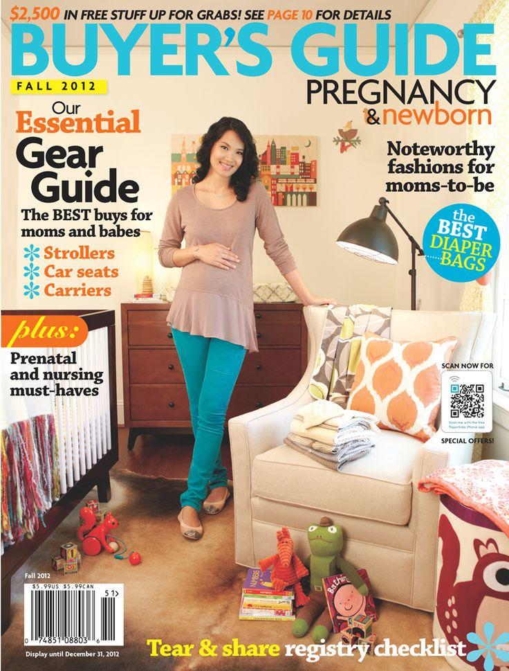 Babyletto's Hudson Crib in Espresso with White on the cover of Pregnancy & Newborn's Fall 2012 Buyer's Guide! @pnmag
