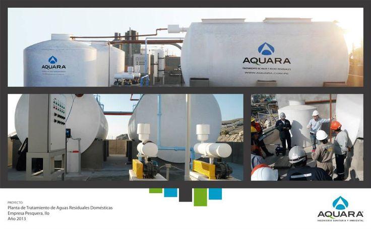 Planta de tratamiento de aguas residuales domésticas.