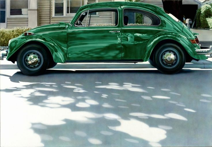 Green Volkswagen, by Don Eddy