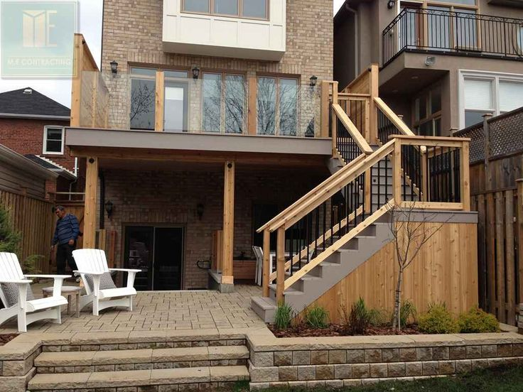 13 best pvc deck with glass railings and walkout basement for Deck ideas above walkout basement