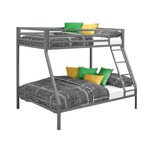 Twin over Full Bunk Beds Kids Boys Girls Bedroom Furniture w/ Ladder Loft Metal #YourZone
