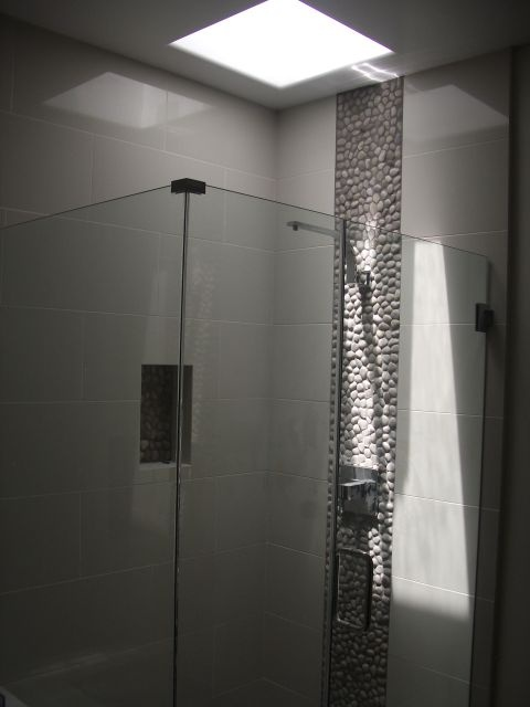 Roca Avila Blanco With Zen Pebble Modern Shower Install