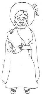 children coloring pages peter paul - photo#2