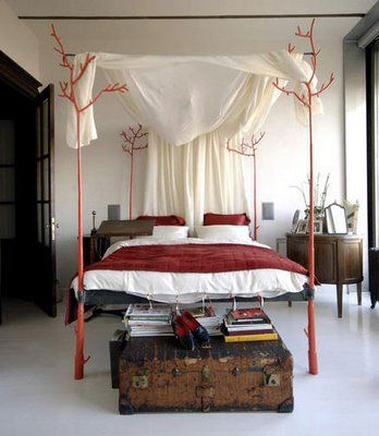 Eco First Art Twig BedFour-Post, Trees Beds, Canopy Beds, Interiors Design, Asli Tunca, Canopies Beds, Beds Frames, Bedrooms, Beds Design