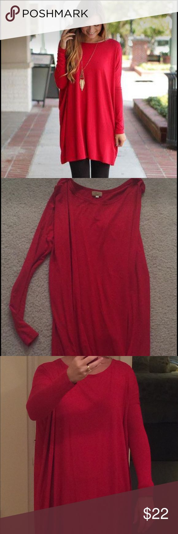 Red Piko tunic dress Small Red tunic Piko dress. Size Small. Perfect for the holidays. Piko Tops Tunics
