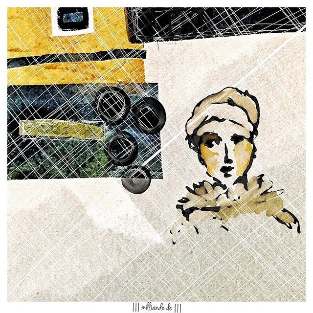 SnapWidget | a little afternoon gazing ... #sketchbook #mixedmedia