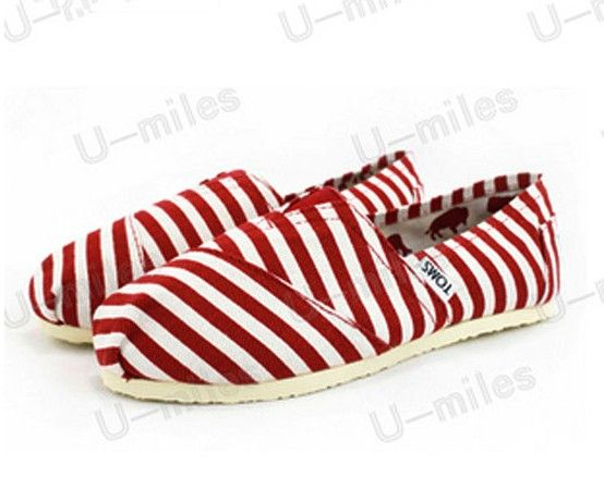 Men's Cheap Toms Shoes in Red Striped : Men's And Women's Toms Shoes, Discount  Online Sale, Toms Outlet Offer the 2013 Latest and Classic Toms Shoes, ...