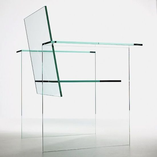 Glass chair designed by Shiro Kuramata & made by Mihoya Glass Co.