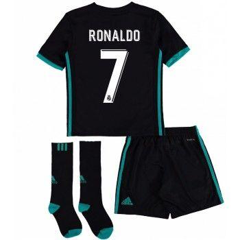 Real Madrid Cristiano Ronaldo 7 kläder Barn 17-18 Bortatröja Kortärmad  #Billiga #fotbollströjor