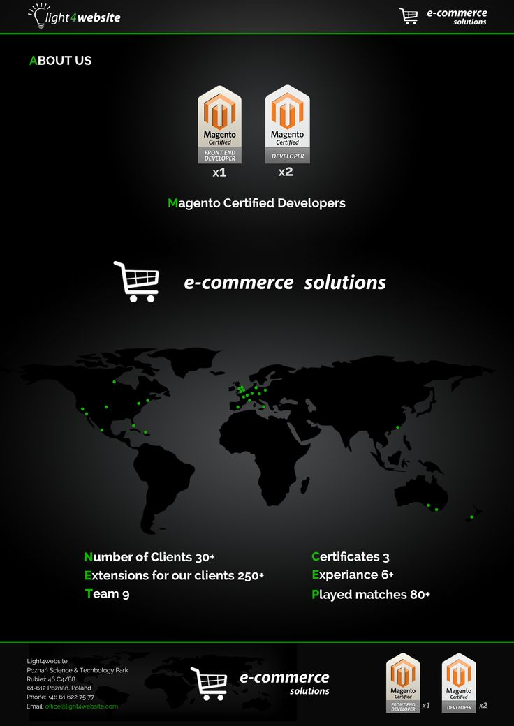 We have more then 30 satisfied clients Developed more then 250 extensions Has a team with experience more then 6 years in programming  And have 3 Certificates for Magento Developers. So if you need a developer check our services.