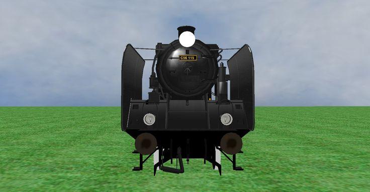 JNR C56 steam loco frontview