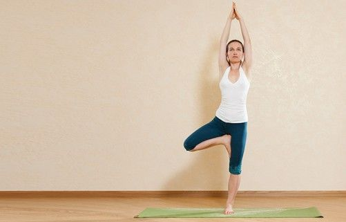 Morning Yoga Exercises - Tree Pose